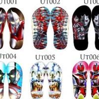 Promo sandal jepit karakter ultraman Diskon