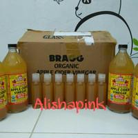 bragg organic apple cider vinegar - cuka apel shared in bottle 100 ml