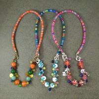 Harga kalung dan gelang 2in1 manik kaca batu etnik handmade colorful | Pembandingharga.com