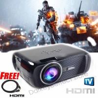 Mini Proyektor projector infokus 1800 Lumens Presentasi TV tuner