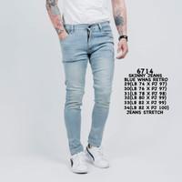6714 Skinny Jeans Blue Whas Retro
