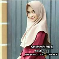 Khimar Pet Simple (Jilbab Instan / Kerudung Simple Wolfis Antem )