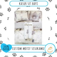 NEW Kasur Bayi Set Crown Sutra Tencel Bumbee Custom Motif Preorder