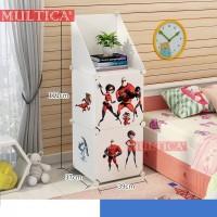 Mutica Meja Desk Bedside Lemari Plastik Anak Baby Bayi Supweman 1-2-A