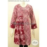 Baju Batik Kerja Wanita Kantor Elegan Lengan Panjang Size XL BLS9090C