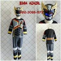 Kaos Anak Karakter Kostum Superhero Super hero BIMA X Azazel HITAM