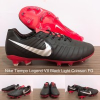 1840f08c8ba9 SEPATU BOLA NIKE TIEMPO LEGEND VII BLACK LIGHT CRIMSON FG