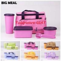 Set Bekal Tas Komplit / Wadah KotakTumbler / Big Meal Twin Tulipware