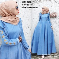 Gamis chanel jeans @250 ket di ft