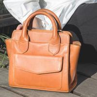 Gammara Leather Hand Bag / Sling Bag - Malunda Mini (Light Brown)