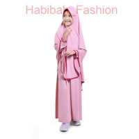 BAJUYULI Baju Muslim Gamis Anak Perempuan Jersey Syar'-i Salem -