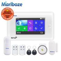 Marlboze PG106 TouchScreen GSM WIFI RFID Alarm Rumah APP Android IOS