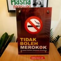 Poster Akrilik Larangan Merokok