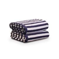 Handuk Travel 6004-1 Cotton Stripe - Deep Blue 50 x 100 Cm