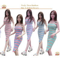 Promo Bintang Rajut Indo || Dress Rainbow Five ly New Knit