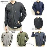 jaket bomber taslan waterproof & katun fleece high quality