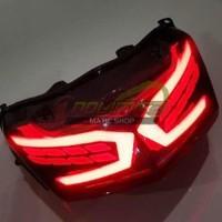 Lampu LED Sein Stoplamp Rem Belakang AES Smoke Yamaha NMAX