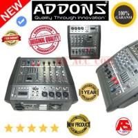 Harga power mixer addons 4 channel 1200watt | Pembandingharga.com