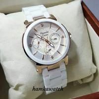 jam tangan alexander cristie wanita ,terbaru,ac2517 white keramik new