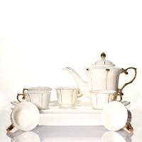 Tea Set Keramik Aksen Gold Capodimonte