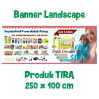 Banner Landscape TIRA Uk. 2,5 meter x 1meter