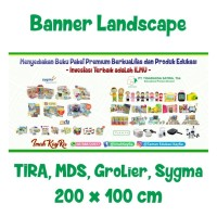 Banner Landscape ALL PENERBIT Uk. 2meter x 1meter