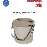 Ice Bucket Wadah Es Batu Stainless Steel 14 cm Akebonno