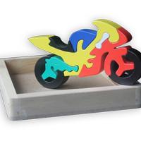 Puzzle 3D Kayu NOBIE - Kura kura - Motor Balap - Truk - Onta - Jerapah