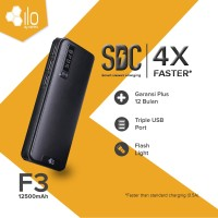 ILO Power Bank F3 12500 mAh 3 Output USB Simple Pack