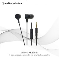 FLASH SALE Audio Technica ATH-CKL220iS In-Ear Headphone with Mic