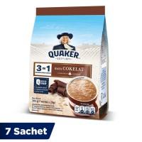 Quaker 3in1 Cokelat Pouch 7 Sachets