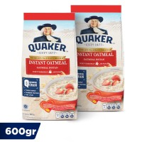 Quaker Instant Oatmeal 600 Gr - Twin Pack