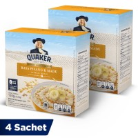 Quaker Oatmeal Pisang Madu Box 4 Sachets - Twin Pack
