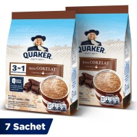 Quaker 3in1 Cokelat Pouch 7 Sachets - Twin Pack