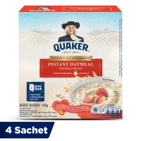 Quaker Instant Oatmeal Box 4 Sachets