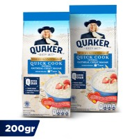 Quaker Quick Cooking Oatmeal 200 Gr - Twin Pack