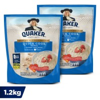 Quaker Quick Cooking Oatmeal 1.2 Kg - Twin Pack