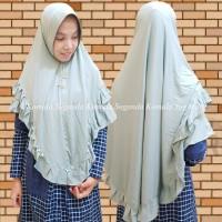 Jilbab Instan 2 Layer Kombinasi Renda