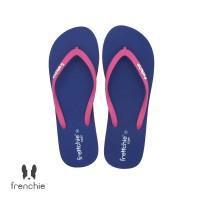 FRENCHIE Sandal Jepit Navy Blue Pink COZY SCW01