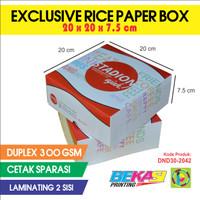 D30 Dus Nasi Exclusive Full Color Uk. 20x20x7.5 cm + Laminating 2 Sisi