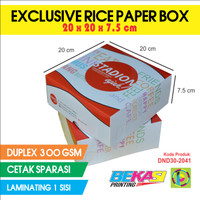 D30 Dus Nasi Exclusive Full Color Uk. 20x20x7.5 cm + Laminating 1 Sisi