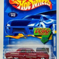 "Hot Wheels: Ford Thunderbolt ""ROBERT FORD"" [Metalflake Dark Red][2002]"