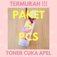 TERMURAH !!! PAKET 5 PCS TONER CUKA APEL 100 ml PINKIES BEAUTY