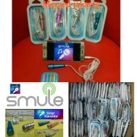 Sale ! MICROPHONE MINI HEADSET MIC KARAOKE SMULE MIC EARPHONE 2 in 1