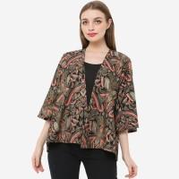 Anakara Luaran Batik Wanita- Bells Kimono Alberio- Hitam