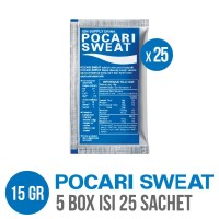 POCARI SWEAT SACHET 15 gr 5 Box isi 25 Sachet