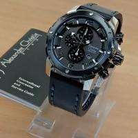 Jam Tangan Pria Alexandre Christie Ac 6410 Original Black Silver