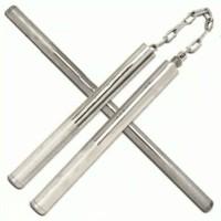 double stick nunchaku logam