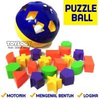 Mainan Edukatif Edukasi Anak Puzzle Ball Jigsaw Bola Bentuk Shape
