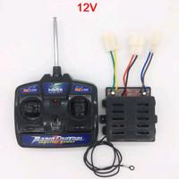 Remote Control Radio + Receiver 12v mobil/motor mainan aki